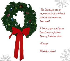 Happy Holidays from the Mighty Bright family!