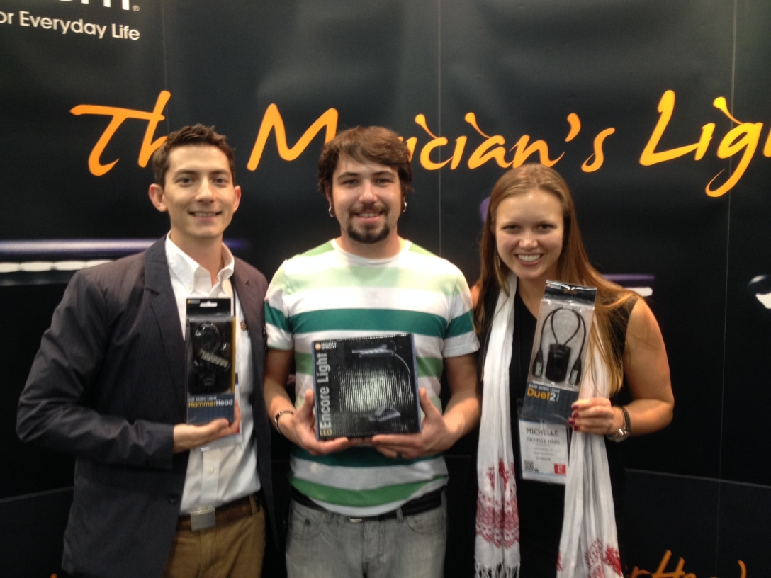 Dustin Bo and Michelle at NAMM 2014